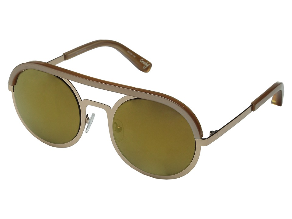 Elizabeth and James Crosby Rose Gold/Gold Mirror Lens Fashion Sunglasses