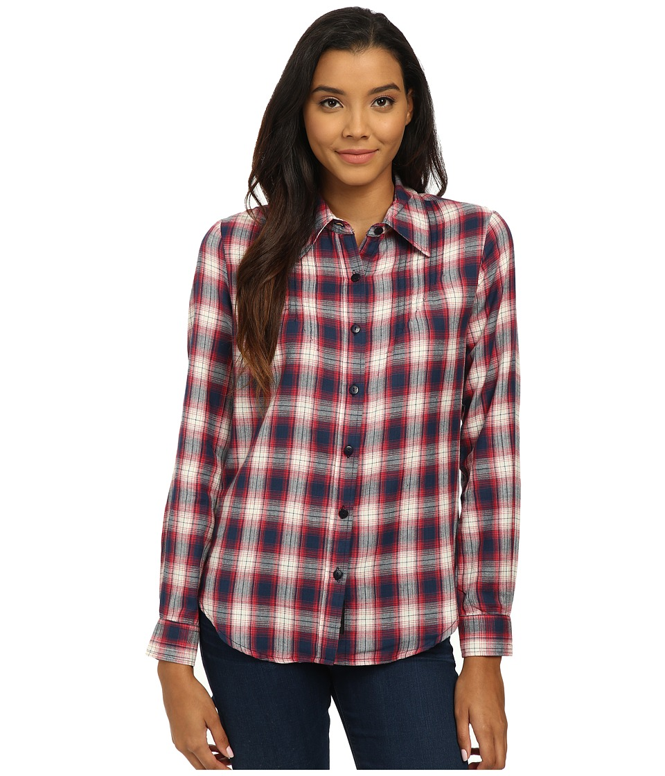 Tolani Ava Top Red Womens Long Sleeve Button Up