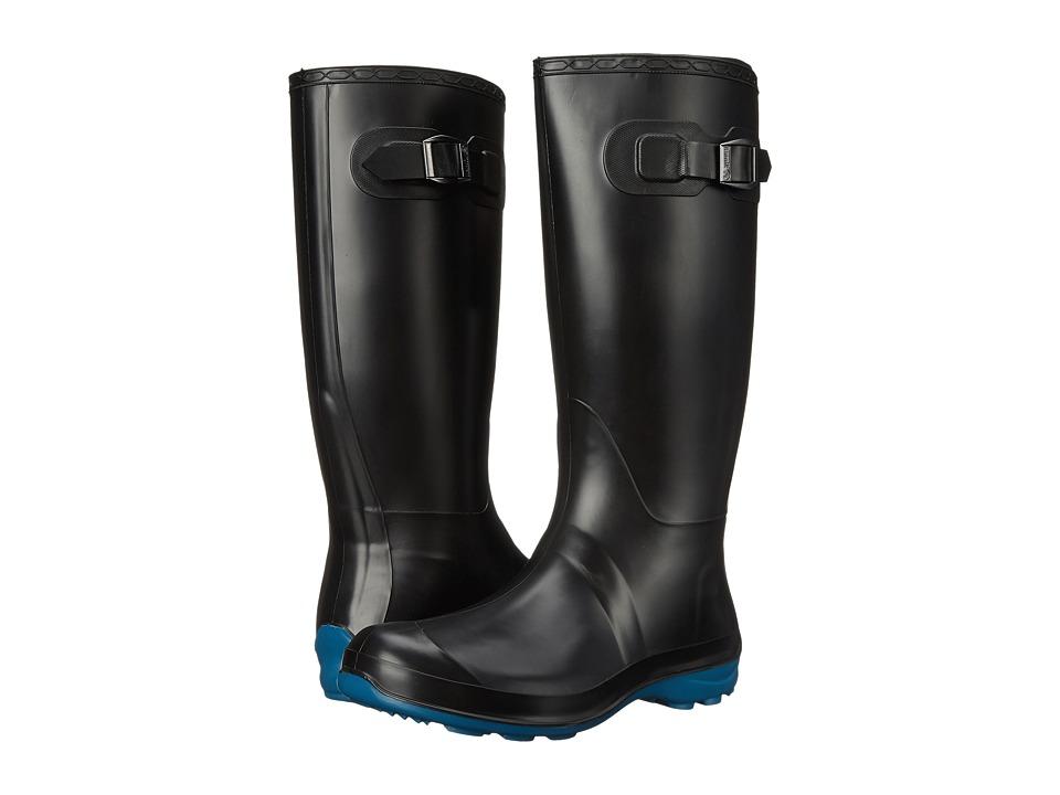 Kamik Olivia Black/Ink Blue Womens Rain Boots