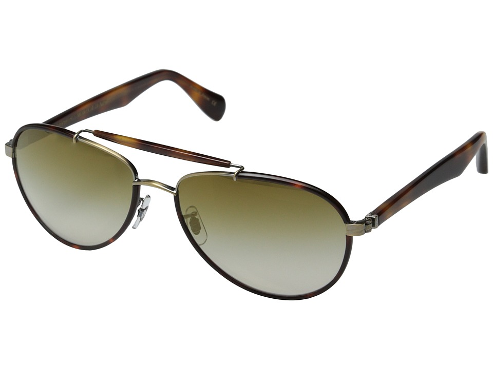 Oliver Peoples Charter Pico/Bronze Flash Mirror Fashion Sunglasses