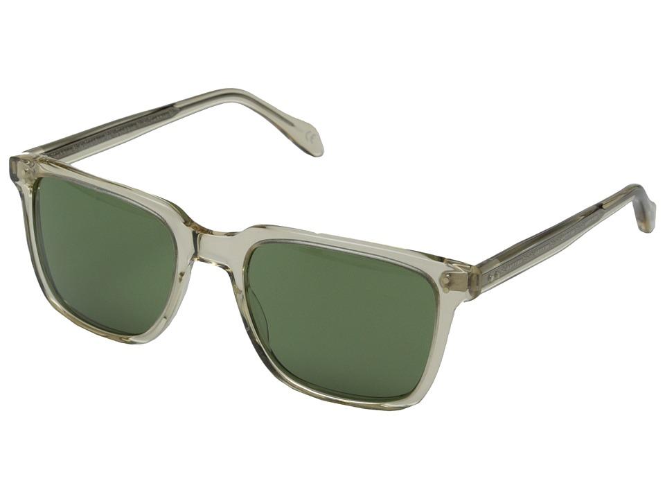 Oliver Peoples NDG Sun Buff/Green C Fashion Sunglasses