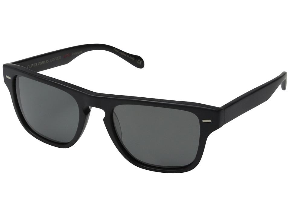 Oliver Peoples Strathmore Semi/Matte Black/Graphite Polarized Vfx Fashion Sunglasses