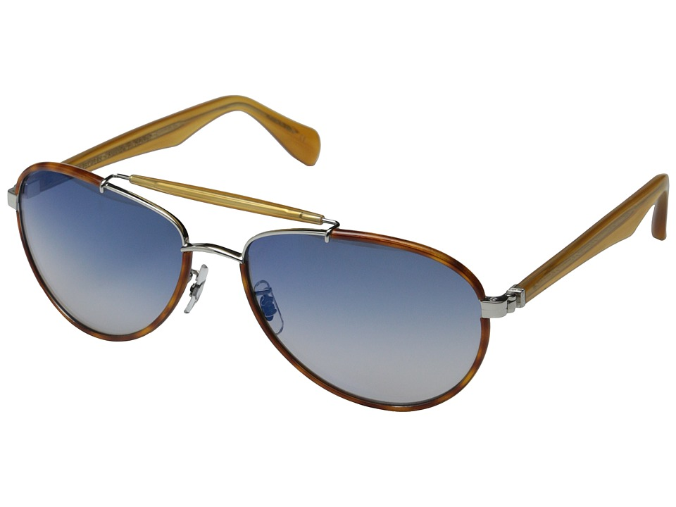 Oliver Peoples Charter Roman/Blue Gradient Mirror Fashion Sunglasses