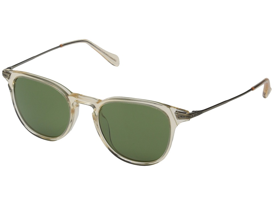 Oliver Peoples Ennis Sun Buff/Antique Gold/Green C Fashion Sunglasses