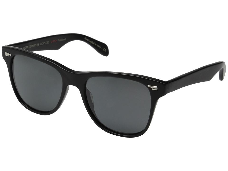 Oliver Peoples Lou Semi/Matte Black/Graphite Polarized Vfx Fashion Sunglasses