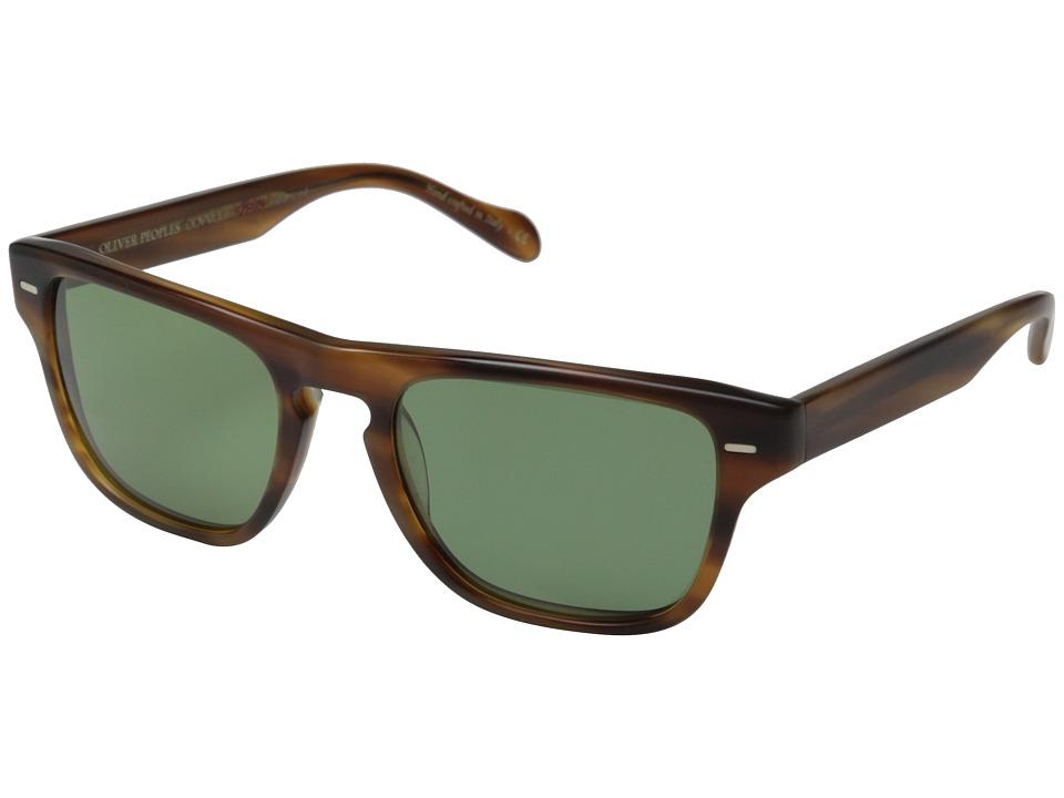 Oliver Peoples Strathmore Semi/Matte Sandalwood/Jade Polarized VFX Fashion Sunglasses