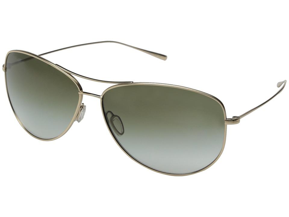 Oliver Peoples Kempner Gold/Olive Gradient Fashion Sunglasses