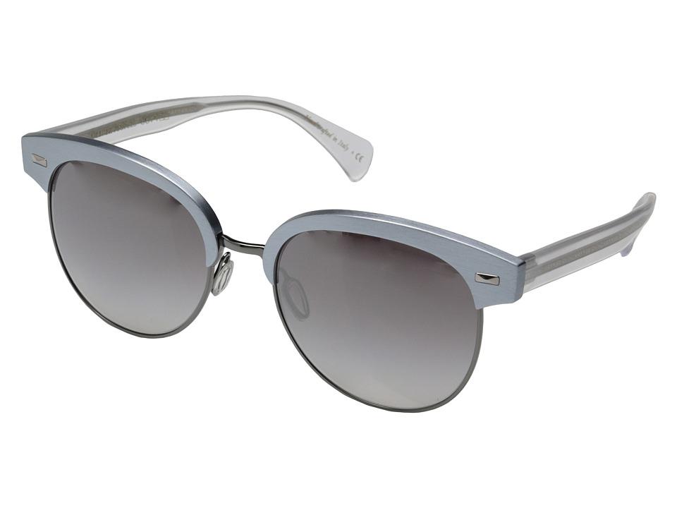 Oliver Peoples Shaelie Frost/Gunmetal/Silver Flash Gradient Mirror Fashion Sunglasses