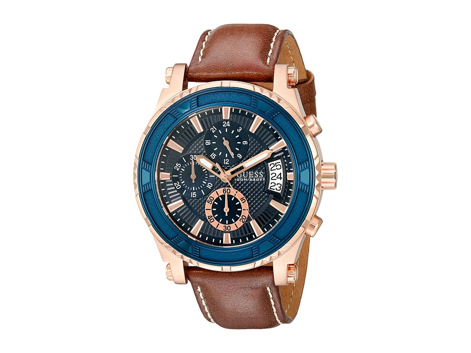 GUESS - U0673G3 (Rose Gold/Honey Brown) Sport Watches