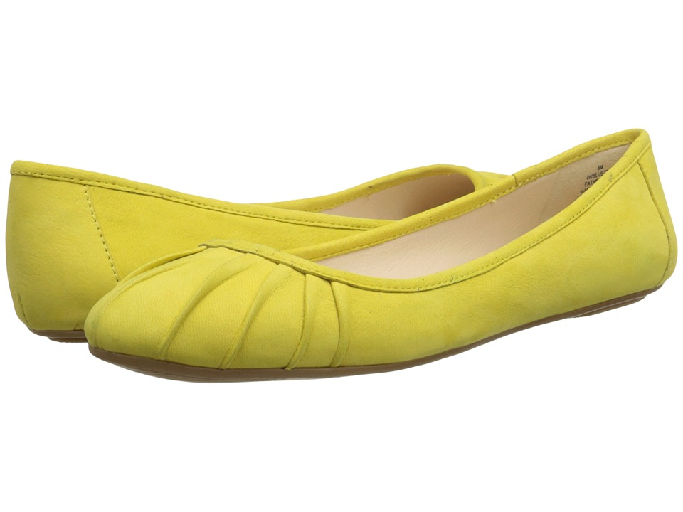 Nine West Blustery Yellow Nubuck Womens Flat Shoes