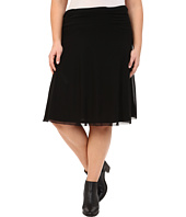 Roper - Plus Size 9922 Solid Stretch Mesh Midi Skirt