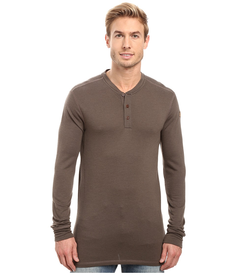 Fjallraven Lappland Merino Henley Long Sleeve (Dark Olive) Men