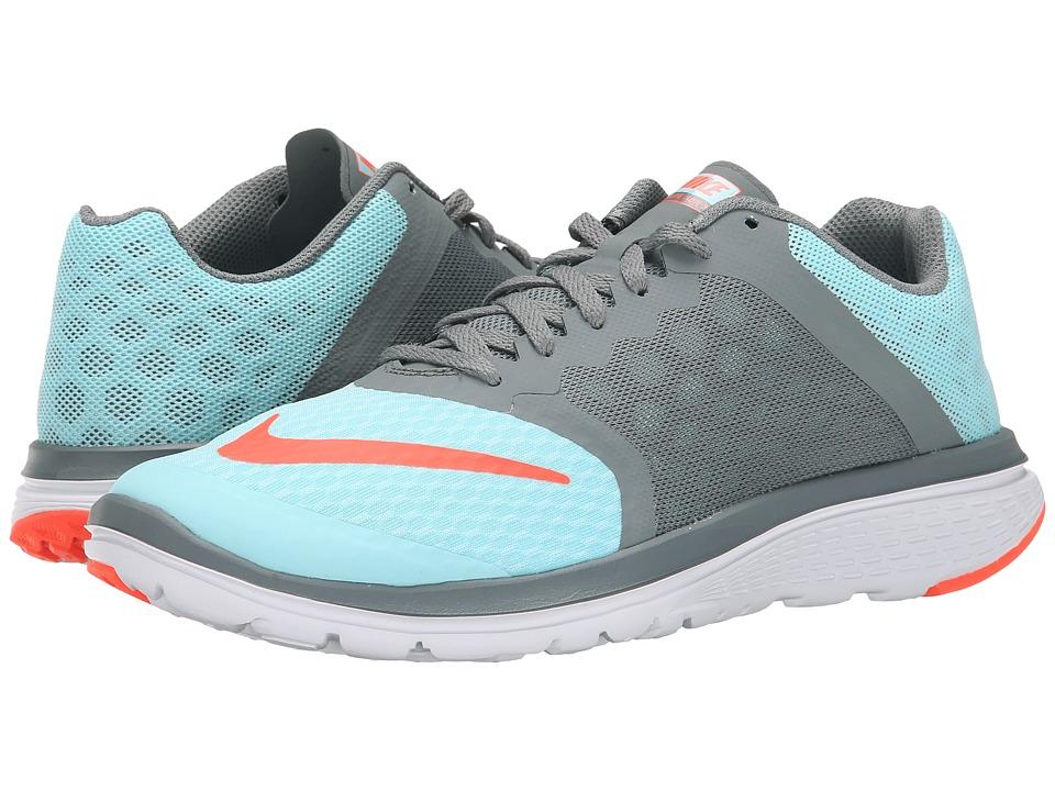Nike - FS Lite Run 3 (Copa/Cool Grey/White/Hyper Orange) Womens Running Shoes