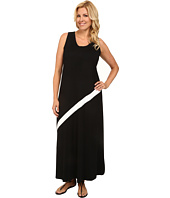 Karen Kane Plus - Plus Size Diagonal Stripe Maxi Dress