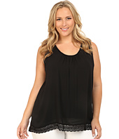Karen Kane Plus - Plus Size Lace Trim Tank Top