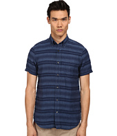 Jack Spade - Hatton Short Sleeve Stripe Linen Shirt
