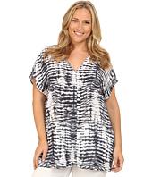 Karen Kane Plus - Plus Size Tie-Dye Print Tunic