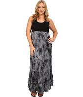 Karen Kane Plus - Plus Size Tie-Dye Print Maxi Dress
