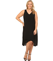 Karen Kane Plus - Plus Size Crossover V-Neck Dress
