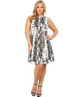 Karen Kane Plus - Plus Size Snake Print Scuba Dress