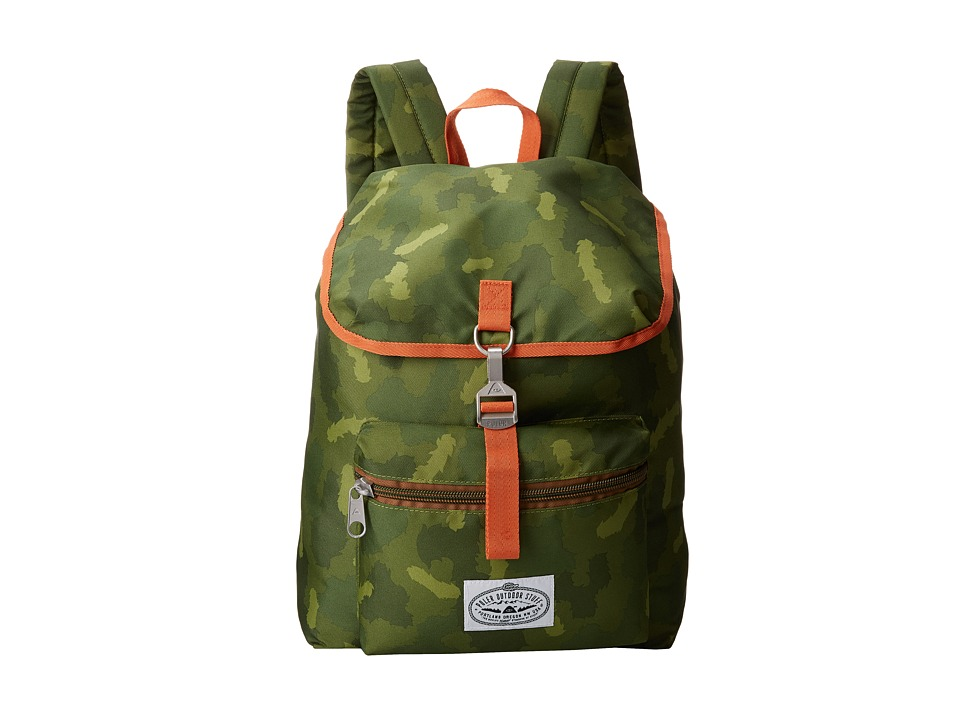 Poler Field Pack Green Camo Backpack Bags