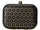 Jessica McClintock Perforated Minaudier (Black)