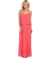 Jessica Howard - Spaghetti Strap Accordian Pleat Popover Maxi Dress
