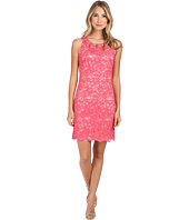 Jessica Howard - Sleeveless Beaded Neck Shift Dress