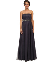 Adrianna Papell - Strapless Jewelry Tulle Gown