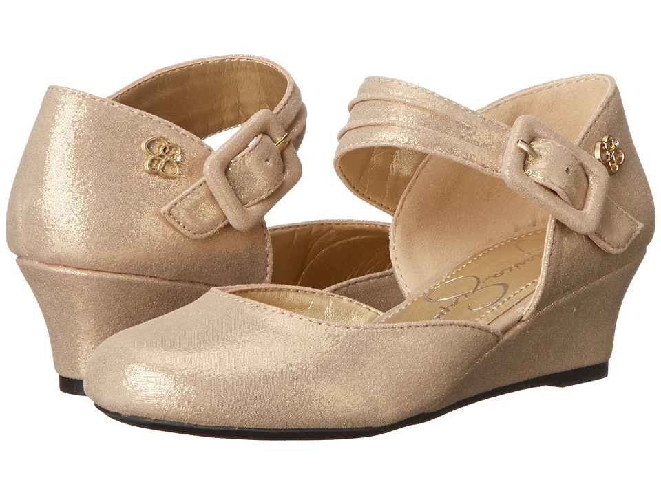 Jessica Simpson Kids Tatiana (Little Kid/Big Kid) (Gold Twighlight Micro) Girl's Shoes