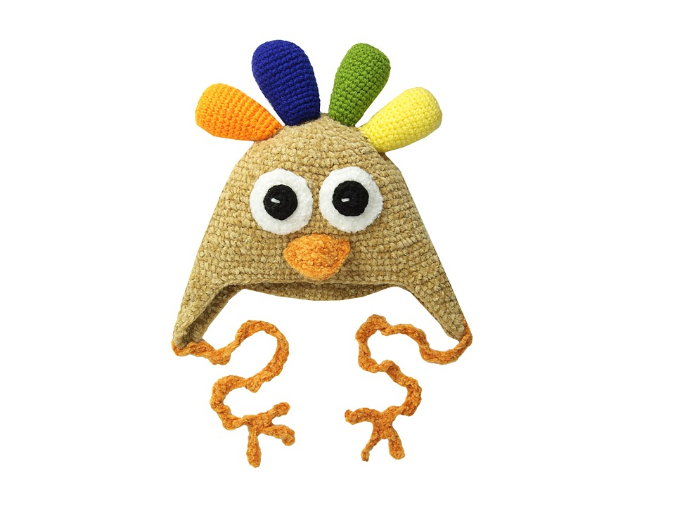 San Diego Hat Company Kids DL2526 Hand Crochet Turkey Hat Infant/Toddler/Little Kids Turkey Caps