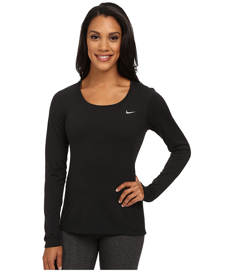 Nike Dri-FIT™ Contour Long Sleeve - Black/Reflective Silver