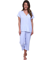 Karen Neuburger - Fresh Linen Short Sleeve Cardigan Crop PJ