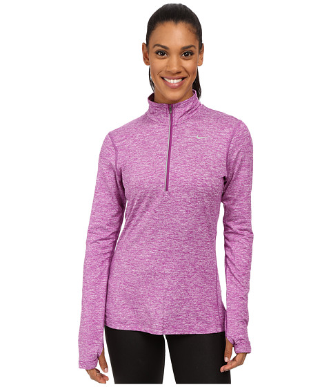 Nike Dri Fit Element Half Zip Purple Dusk Heather