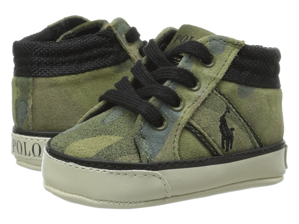 Ralph Lauren Layette Kids Bawtry Infant/Toddler Army Camo Boys Shoes