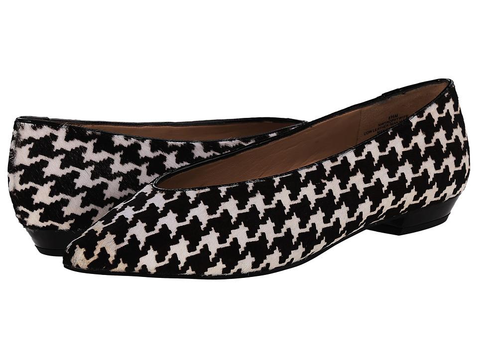 Nine West - Trophywife Black WhiteBlack Pony Womens Flat Shoes $89.00 AT vintagedancer.com