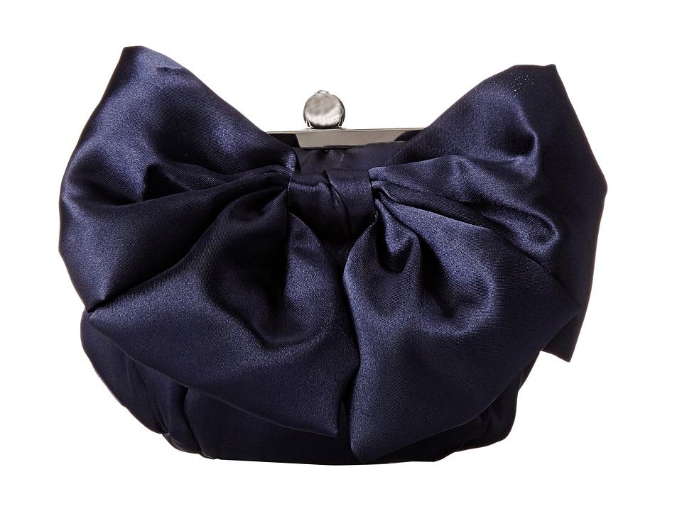 Jessica McClintock - Oversized Bow Pouchette (Navy) Handbags