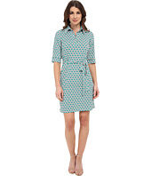 Laundry by Shelli Segal - Printed Matte Jersey Shirt Dress