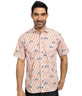Thomas Dean & Co. - Short Sleeve Woven Scooter Print