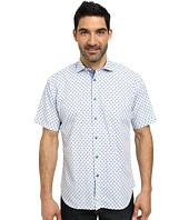 Thomas Dean & Co. - Short Sleeve Woven Jacquard Check