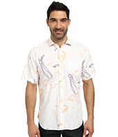 Thomas Dean & Co. - Short Sleeve Woven Open Paisley Print