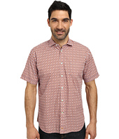 Thomas Dean & Co. - Short Sleeve Woven Geometric Print