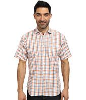 Thomas Dean & Co. - Short Sleeve Woven Textured Plaid