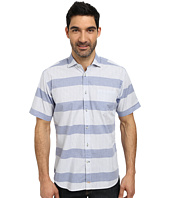 Thomas Dean & Co. - Short Sleeve Woven Graph Stripe