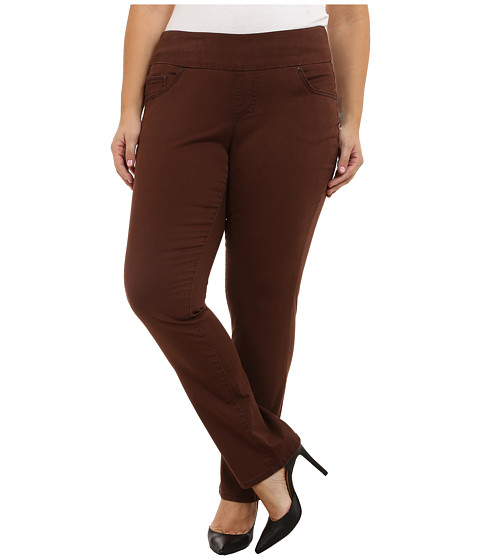 Jag Jeans Plus Size Plus Size Peri Pull On Straight Jeans in Java Dark