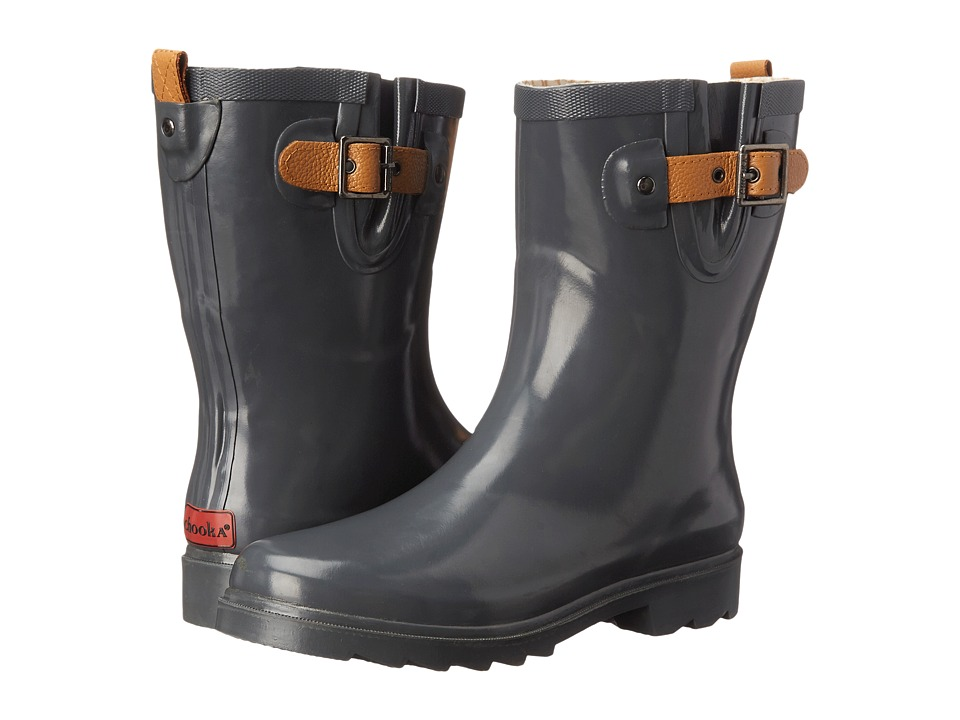 Chooka - Top Solid Mid Rain Boot (Charcoal) Women