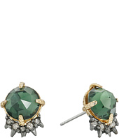 Alexis Bittar - Rose Cut Cabochon w/ Spiked Crystal Post Earrings