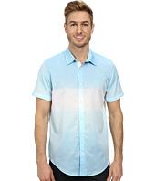 Calvin Klein - Ombre Horizontal Slub Stripe Short Sleeve Woven Shirt