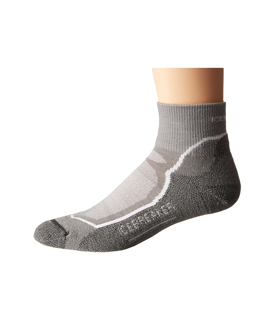 Icebreaker Hike Light Mini 1 Pair Pack Fossil/White/Monsoon Mens Quarter Length Socks Shoes