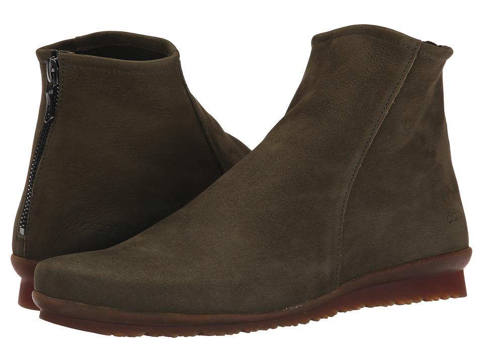 Arche Baryky Kaki Womens Zip Boots